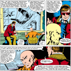 """Professor, this is the Claremont era, not the Silver Age. We evolve dynamically now."" (X-Men #129)"