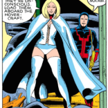 Someday, we're going to do an entire episode about Emma Frost and the subtle but important difference between weaponized femininity and pandering to the male gaze, and it will be so rad. (X-Men #129)