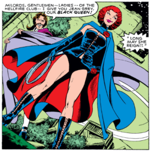 """""""What's up, Jean?"""" """"Oh, y'know, idyllic ancestral memories about getting married in a cemetery, in fetishwear."""" (X-Men #130)"""