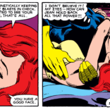 This scene will be referenced over and over and over until the end of time. (X-Men #132)