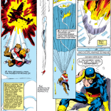 Outside of a few moments of the Dark Phoenix Saga, there's probably no scene in X-Men that's been redrawn as much as this one (but never retconned). (X-Men #144)