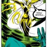 You can tell it's bad news because she's got special balloon borders. (X-Men #147)