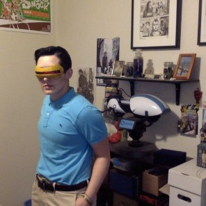 ...and Rachel as space-pirate-in-a-polo-shirt teenage Cyclops.