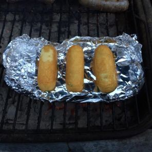 Like their regular-continuity counterparts, the Twinkies of Future Past are pretty vile, so we brought some to a friend's 4th of July cookout to see if they'd be any better grilled. (Also, someone there recognized Miles based on his voice, which was both weird and awesome!)