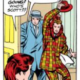 Zelda's original line, from X-Men #7 (she was originally a redhead)...