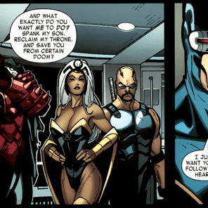 Remember that time Cyclops told Dracula to follow his heart? Remember that time Cyclops told Dracula to follow his heart? Remember that time Cyclops told Dracula to follow his heart? (X-Men #3)