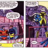 Hepzibah demonstrates the proper way to interrupt a dramatic moment. P.S. REMEMBER WHEN WE SAID THE STARJAMMERS ARE FUCKING DELIGHTFUL? THE STARJAMMERS ARE FUCKING DELIGHTFUL, YOU GUYS. (Uncanny X-Men #156)