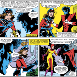Yeah, we're not sure what's going on in that first outfit, either. (Uncanny X-Men #157)