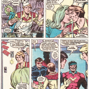 """""""Hey, Alex, you know how all you wanted was a normal life? Yeah, I just dropped by to tell you our dad's been alive for the last twenty years. And he's a space pirate. And your hat looks stupid."""" (Uncanny X-Men #158)"""