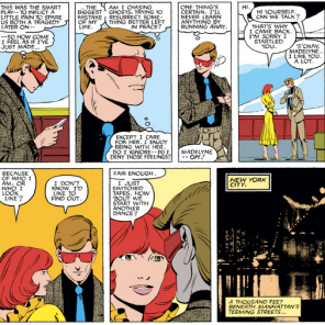 Here's the thing about Scott and Madelyne: they're actually kind of awesome together. Doomed, but awesome. (X-Men #170)