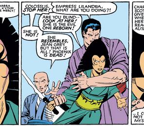 Lilandra agrees. (X-Men #173)