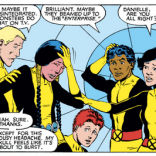 Reinforcing the case for X-Men watching Star Trek. (New Mutants #3)
