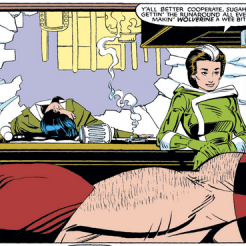 Meanwhile, Rogue and Wolverine bond over casual violence. (Uncanny X-Men #173)