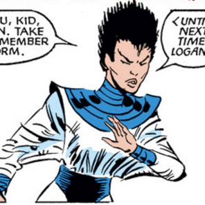 Seriously, Yukio, what the hell are you even wearing? I mean, it's awesome, but, what? (Kitty Pryde and Wolverine #6)
