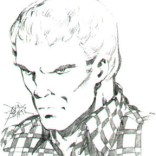 John Byrne's original concept for what Wolverine would look like under the mask. He ended up using this design for Sabretooth instead.