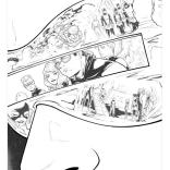 Russell Dauterman's line art from the Cyclops #1 flashback page.