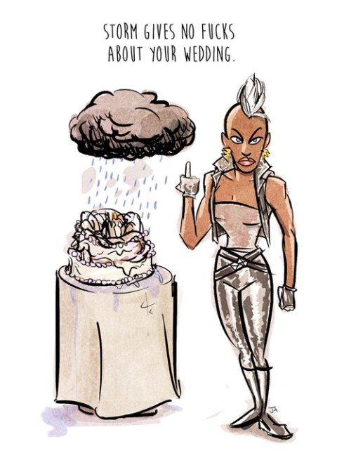 Josh Abraham's Ororo is way too fashionable to care about your bullshit life decisions. (Original here.)