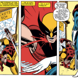 The early '80s: A more innocent time, when all a hero needed was coke and epic shoulder pads, and you could kill Wolverine by slitting his throat. (X-Men #177)
