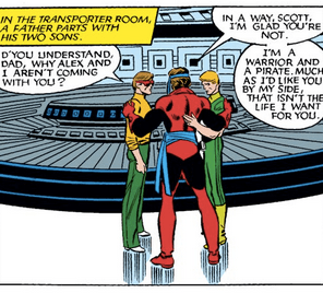 Why is Alex dressed like an elf? (X-Men #177)