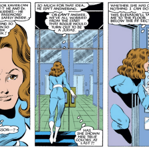 Why is Kitty wearing an unbranded Fantastic 4 costume? Who the hell knows? Do we even need a reason, at this point? (X-Men #178)