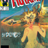 The cover of New Mutants #20. We have no idea what's going on in the corner square.