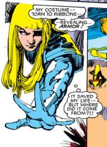 Illyana's soul armor spreads. (New Mutants #20)