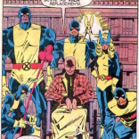 Let's check and see if the action-figures-vs.-full-size-people thing is still funny when the action figures are the good guys. YES. YES, IT IS. (The X-Men and the Micronauts #2)