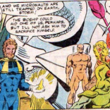 JUST TAKE A MOMENT TO IMAGINE HOW MUCH FUNNIER X-MEN WOULD BE IF THEY'D STAYED SIX INCHES TALL. (The X-Men and the Micronauts #4)