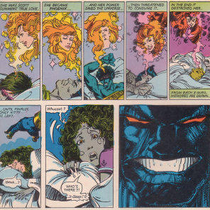 Darkseid is Creepy Santa (so, basically, Santa). (The Uncanny X-Men and the New Teen Titans)