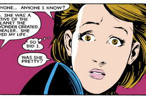 Aw, Kitty. Also, ace tandem use of speech and thought balloons. (Uncanny X-Men #183)
