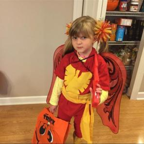 The McPherson family of Ohio sent us this photo of what we are objectively certain is the cutest Dark Phoenix of this or any other universe.