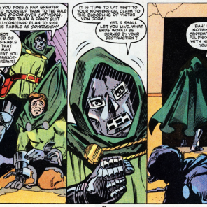 Doctor Doom: disappointed parent. (Beauty and the Beast #4)