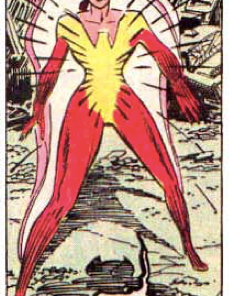 Rachel's favorite Rachel Summers costume, from Uncanny X-Men #207. Why has no one done a ballgown version of this yet? I mean: THAT NECKLINE!