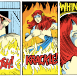 That horror-movie WHINNEY! in the last panel, though. (Firestar #2)