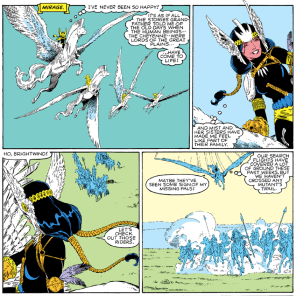 The Dani-becomes-a-Valkyrie arc reminds me of the thing where literally everyone else realizes you're queer before you do. (New Mutants Special Edition #1)