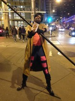 We ran into this Gambit on our way back from the X-Plain the X-Men meetup on Saturday!