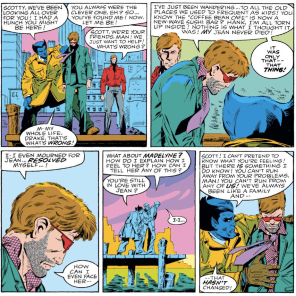 It's like they know how an intervention works, but not how it's supposed to end. (X-Factor #1)