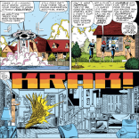 Grey house break-in #2. Doesn't anyone ever think to call ahead? (Fantastic Four #286)