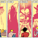 Seriously: WHO THE HELL IS THAT ABOVE RAHNE? (New Mutants #37)