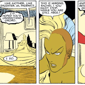I'm pretty sure no one ever brings this up again, which seems weird in retrospect. (Uncanny X-Men #203)