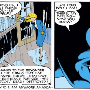 Nightcrawler likes Secret Wars about as much as we do. (Uncanny X-Men #204)