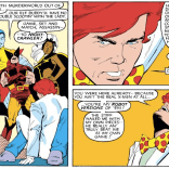 Nightcrawler and Arcade make really excellent mutual foils--both of them appreciate the theatricality of the genre in ways that few of their peers do. (Uncanny X-Men #204)