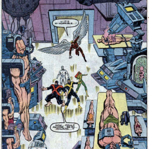 How come some of these people are wearing robot underpants and others are not? (X-Factor Annual #1)