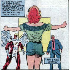 As a side effect of her return from near-death, Jean can perfectly recall any outfit--except her own. (X-Factor #2)