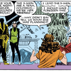 You'd think Piotr would have caught on to the existence of spandex by now, what with being a superhero and all. (Uncanny X-Men #202)