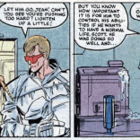 """Trust me, this is in no way an allegory for any other situations in your life."" (X-Factor #2)"