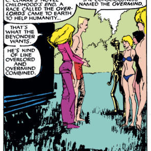 Not even being brainwashed and absorbed into a cosmic hive-mind can come between Cannonball and his classic science fiction allusions. (New Mutants #36)