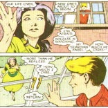 """""""Aw"""" or """"Ew,"""" depending on your vague guess at Betsy's age at this point in continuity. (New Mutants Annual #2)"""