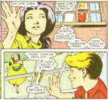 """Aw"" or ""Ew,"" depending on your vague guess at Betsy's age at this point in continuity. (New Mutants Annual #2)"