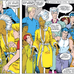 Teen Magneto always looks super smug, presumably because of his excellent hair. (X-Men Annual #10)
